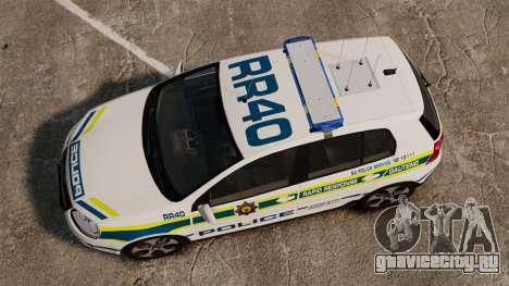 Volkswagen Golf 5 GTI Police v2.0 [ELS] для GTA 4 вид справа