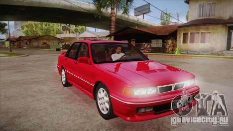 Mitsubishi Galant VR-4 (E39A) 1987 HQLM для GTA San Andreas вид сзади