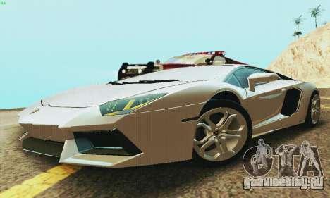 Lamborghini Aventador LP700 для GTA San Andreas вид сзади слева