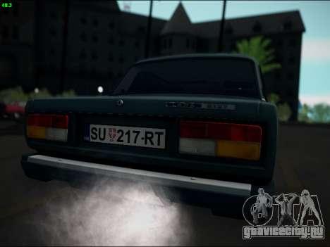ВАЗ 2107 Riva для GTA San Andreas вид справа