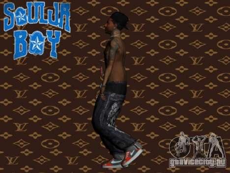 Soulja Boy skin для GTA San Andreas третий скриншот