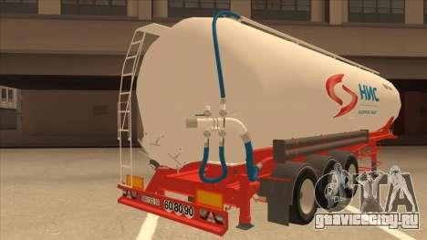 Полуприцеп Nis для Scania R620 Nis Kamion для GTA San Andreas вид справа