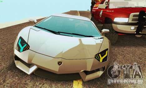 Lamborghini Aventador LP700 для GTA San Andreas вид справа