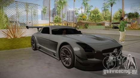 Mercedes-Benz SLS (AMG) GT3 для GTA San Andreas вид изнутри