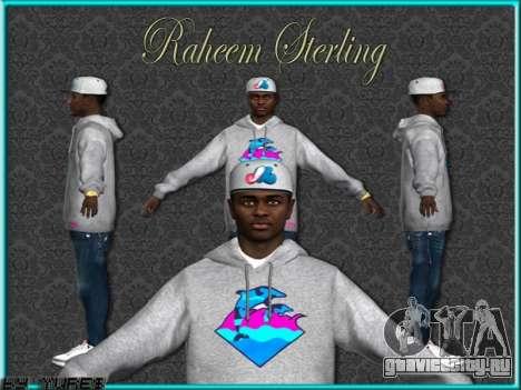 Raheem Sterling skin для GTA San Andreas пятый скриншот