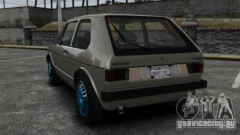Volkswagen Golf MK1 GTI Update v2 для GTA 4 вид сзади слева