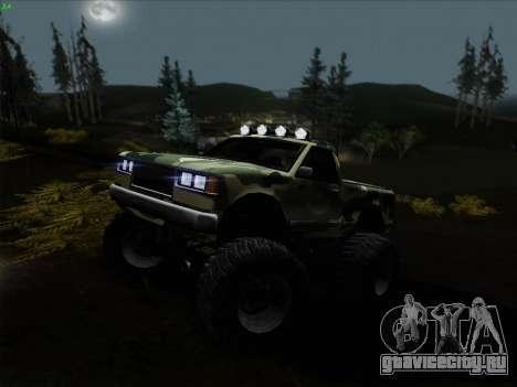 Камуфляж для Монстра для GTA San Andreas вид сзади