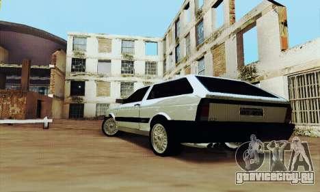 VW Parati GLS 1988 для GTA San Andreas вид сзади слева