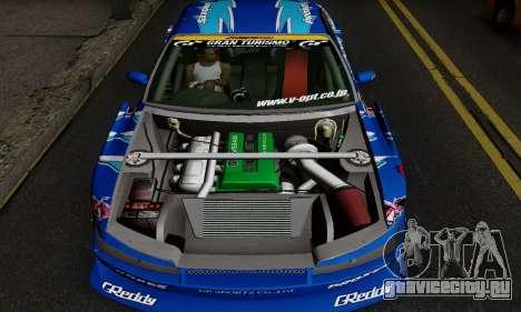 Nissan Silvia S15 Toyo Drift для GTA San Andreas вид сзади слева