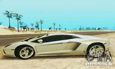 Lamborghini Aventador LP700 для GTA San Andreas вид слева
