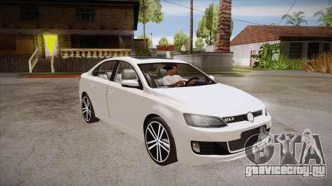 VW Jetta GLI 2013 для GTA San Andreas вид сзади