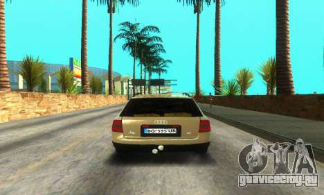 Audi A6 (C5) Avant для GTA San Andreas вид сзади