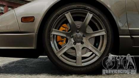 Acura NSX для GTA 4 вид сзади