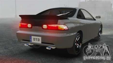 Acura Integra Type-R Domo Kun для GTA 4 вид сзади слева