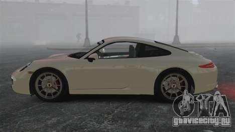 Porsche 911 Carrera S 2012 v2.0 для GTA 4 вид слева