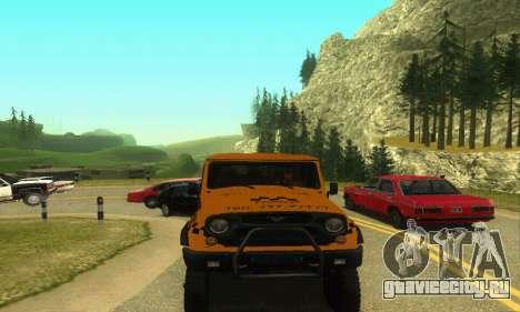 УАЗ Hunter Такси для GTA San Andreas вид сзади слева
