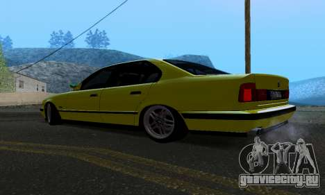 BMW M5 E34 IVLM v2.0.2 для GTA San Andreas вид сзади слева