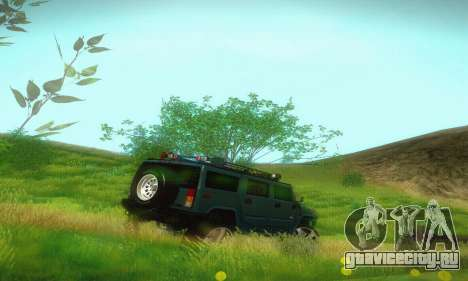 Hummer H2 Monster для GTA San Andreas вид справа