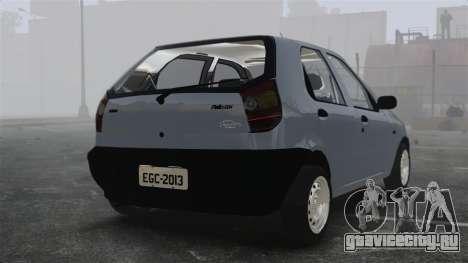 Fiat Palio EDX 1997 для GTA 4 вид сзади слева