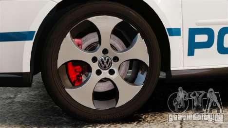 Volkswagen Golf 5 GTI Police v2.0 [ELS] для GTA 4 вид сзади