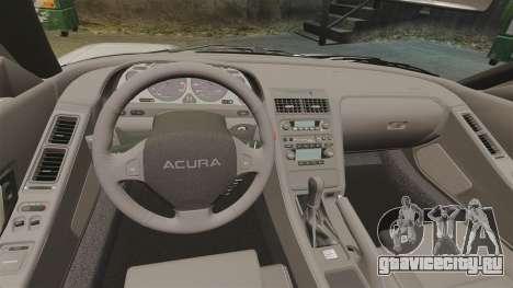 Acura NSX для GTA 4 вид изнутри