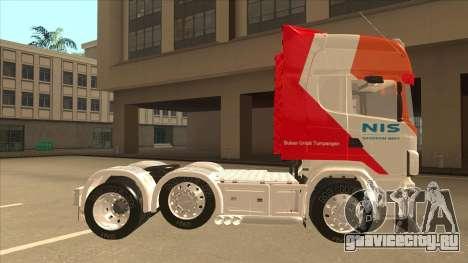 Scania R620 Nis Kamion для GTA San Andreas вид сзади слева