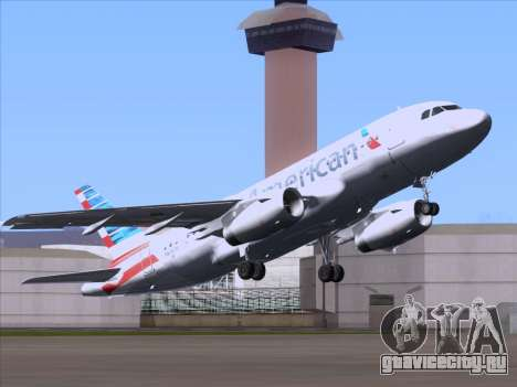 Airbus A319-112 American Airlines для GTA San Andreas вид сзади