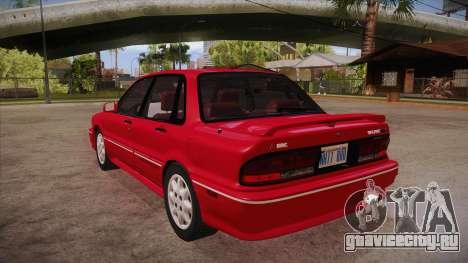 Mitsubishi Galant VR-4 (E39A) 1987 HQLM для GTA San Andreas вид сзади слева