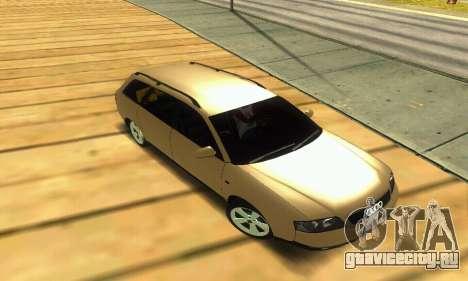 Audi A6 (C5) Avant для GTA San Andreas вид сверху