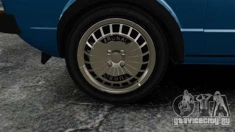 Volkswagen Golf MK1 GTI Update v2 для GTA 4 вид сзади