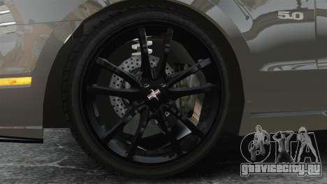 Ford Mustang GT 2013 для GTA 4 вид сзади