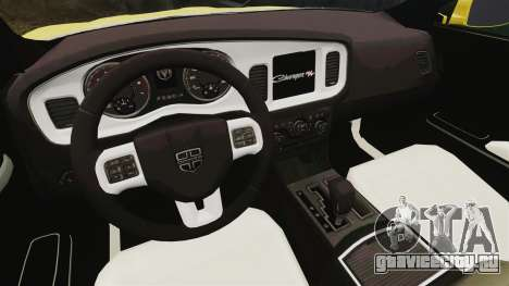 Dodge Charger 2011 Taxi для GTA 4 вид сзади