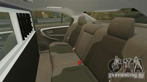 Ford Taurus 2010 Police Interceptor Detroit для GTA 4 вид сбоку