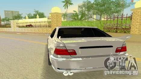 BMW M3 E46 Hamann для GTA Vice City вид сзади