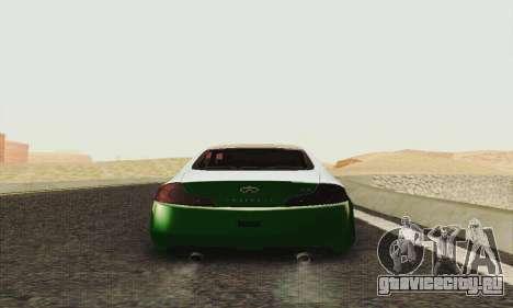 Infiniti G35 Hellaflush для GTA San Andreas вид справа