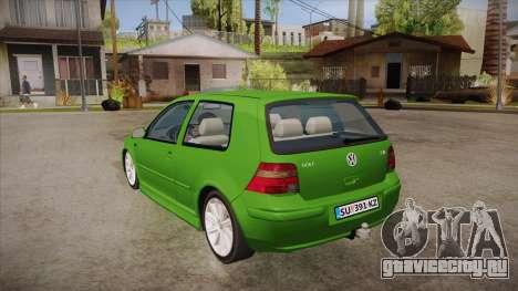Volkswagen Golf Mk4 для GTA San Andreas вид сзади слева