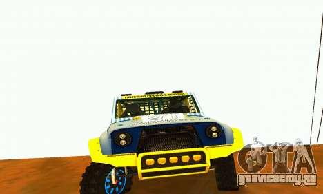 УАЗ 31514 Ралли для GTA San Andreas вид сзади слева
