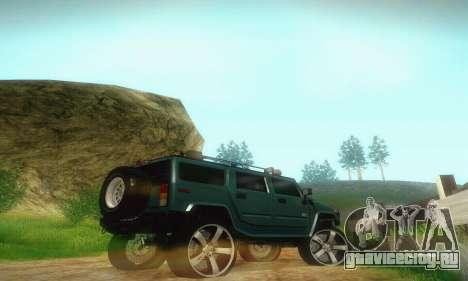 Hummer H2 Monster для GTA San Andreas вид сзади