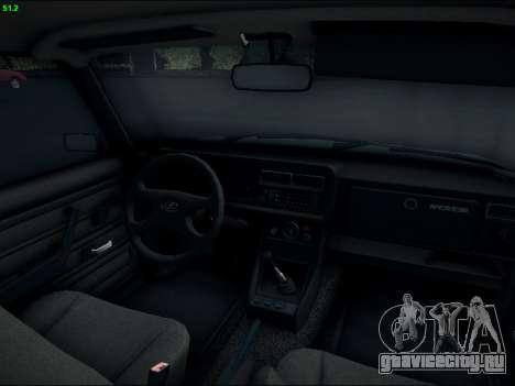 ВАЗ 2107 Riva для GTA San Andreas вид изнутри
