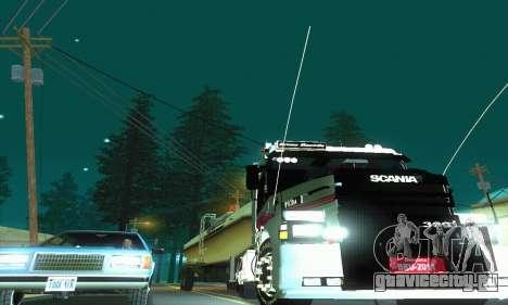 TopLine Scania 113 h 360 для GTA San Andreas вид изнутри