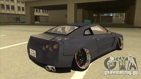 Nissan GT-R R35 Camber Killer для GTA San Andreas вид справа