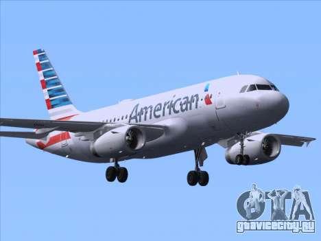 Airbus A319-112 American Airlines для GTA San Andreas вид сзади слева