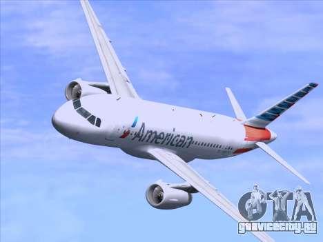 Airbus A319-112 American Airlines для GTA San Andreas двигатель