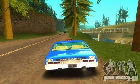 Fasthammer Taxi для GTA San Andreas вид сзади