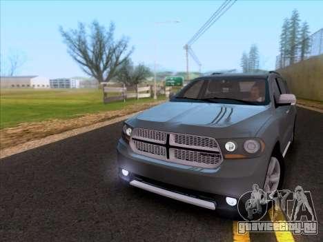 Dodge Durango Citadel 2013 для GTA San Andreas вид слева