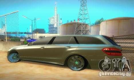 Mercedes-Benz E350 Wagon для GTA San Andreas вид справа