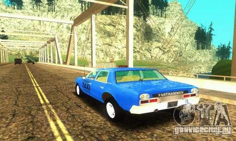 Fasthammer Taxi для GTA San Andreas вид сзади слева
