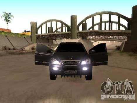 SsangYong New Kyron 2013 для GTA San Andreas вид слева