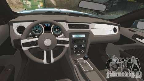 Ford Mustang BOSS 2013 для GTA 4 вид сзади