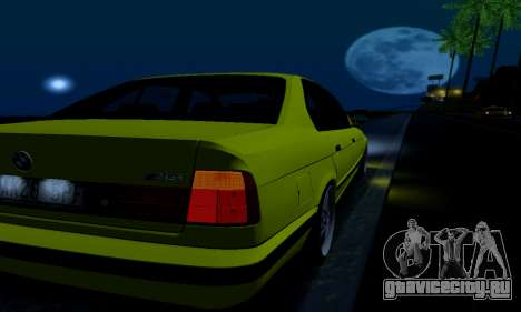 BMW M5 E34 IVLM v2.0.2 для GTA San Andreas вид снизу